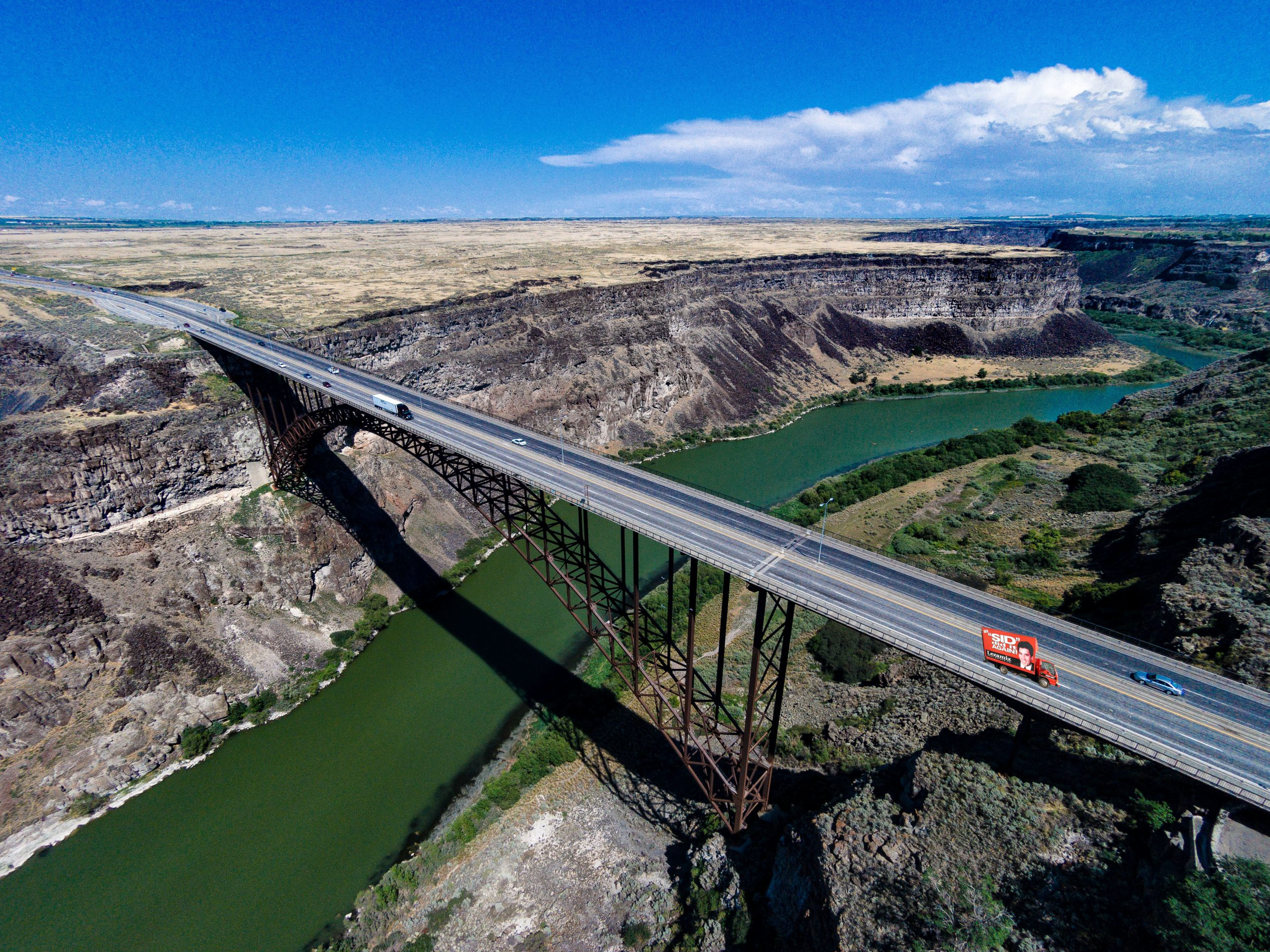 Perrine Bridge replaced Twin Falls-Jerome bridge
