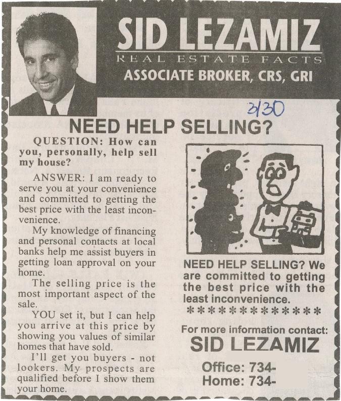 Need Help Selling