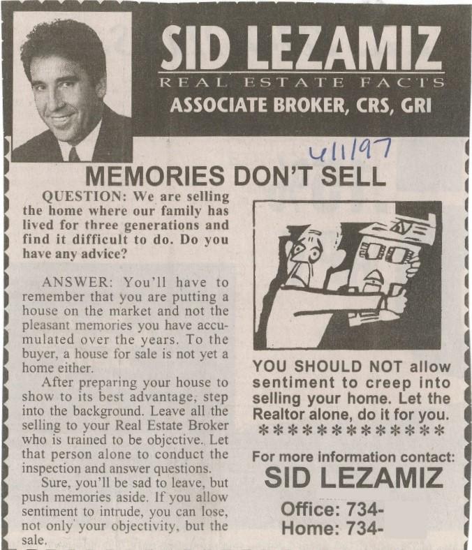 memories do not sell